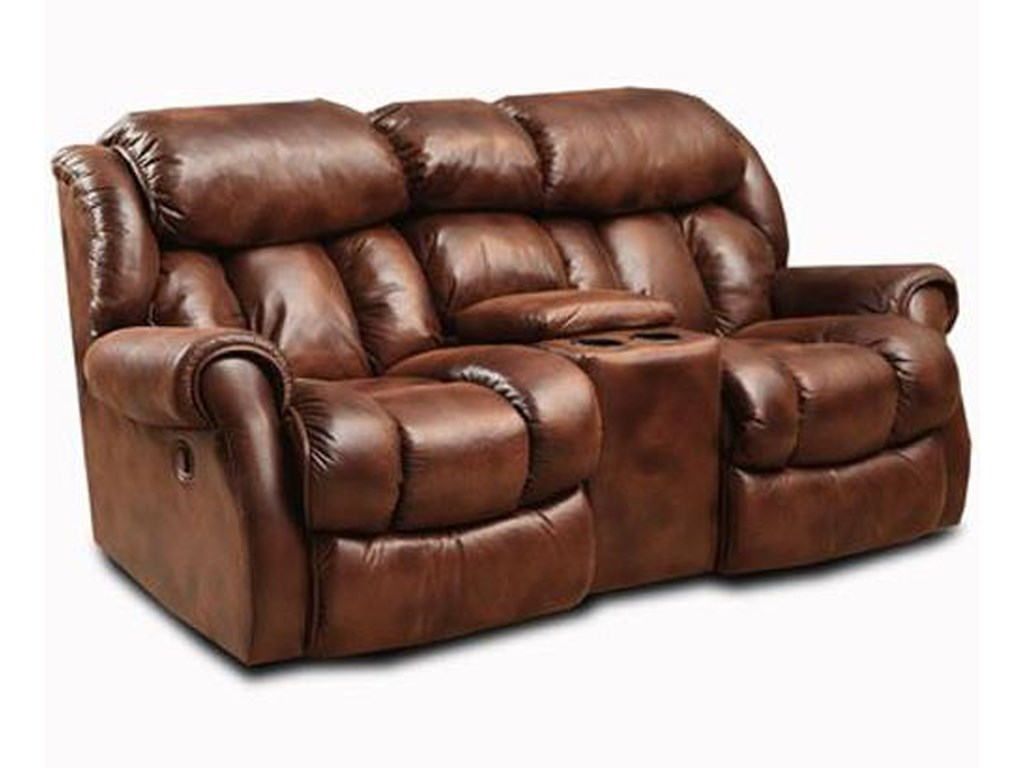 Homestretch Cody Casual Rocking Recliner Loveseat With Cup Holders