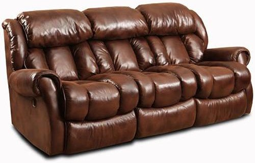 HomeStretch Cody Casual Reclining Sofa with Channel Back