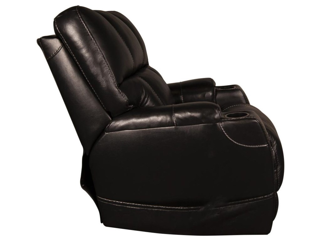 HomeStretch DalyDaly Leather-Match Power Recliner