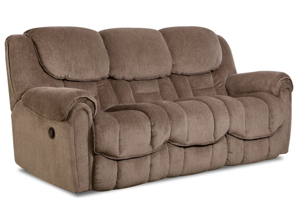 HomeStretch Del Mar 122Double Reclining Sofa