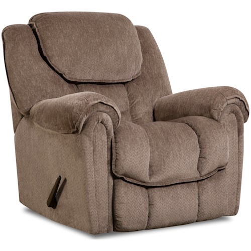 HomeStretch Del Mar 122 Casual Rocker Recliner with Pillow Arms