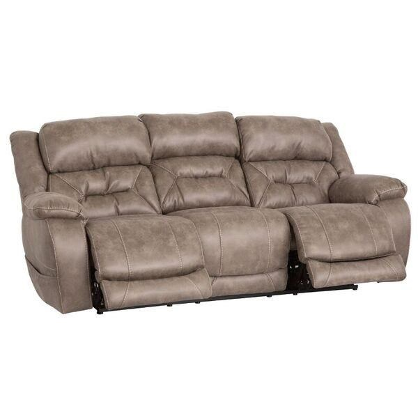 HomeStretch Enterprise Casual Power Reclining Sofa With Power Headrests    Darvin Furniture   Reclining Sofas