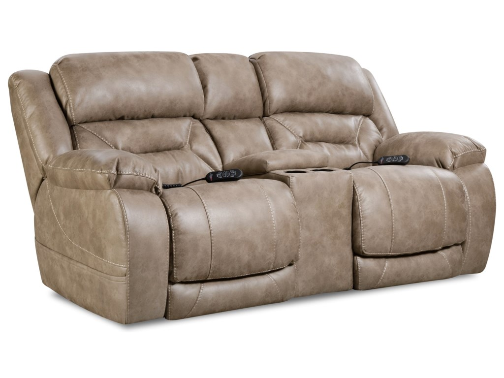 HomeStretch EnterprisePower Reclining Console Loveseat