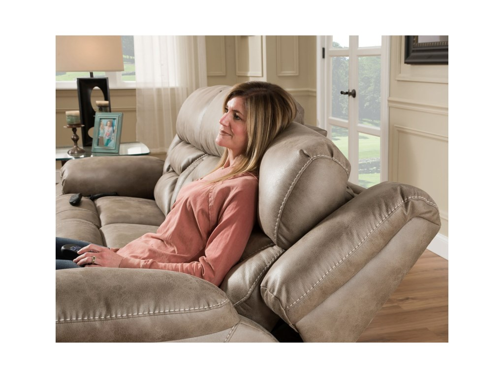 HomeStretch PaxPower Reclining Console Loveseat