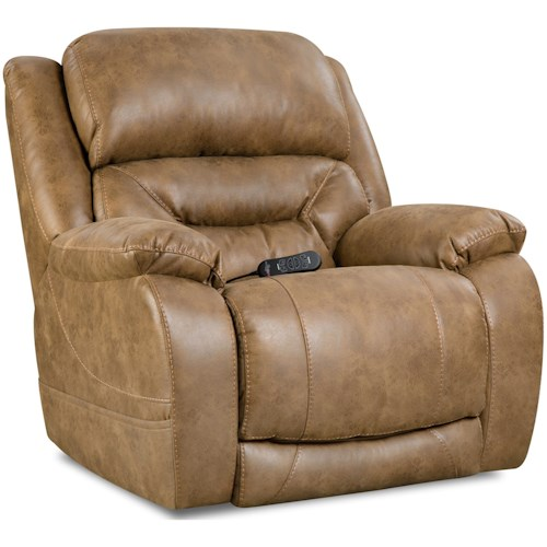 HomeStretch Enterprise Casual Power Recliner with Power Headrest