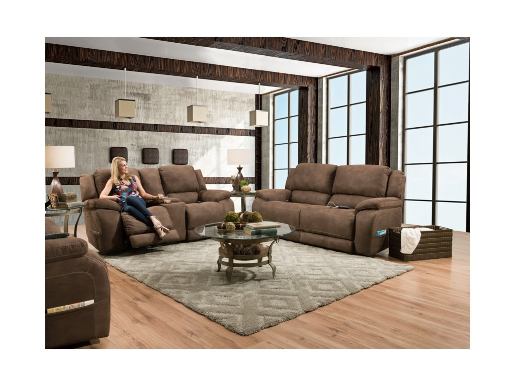 HomeStretch ExplorerDouble Reclining Power Sofa
