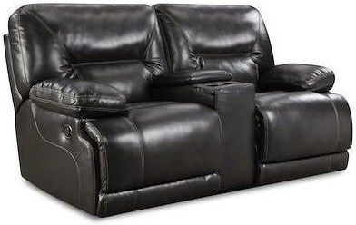 HomeStretch Terry Casual Reclining Console Loveseat with Pillow Arms