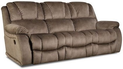 HomeStretch 145 Casual Double Reclining Power Sofa with Pillow Arms