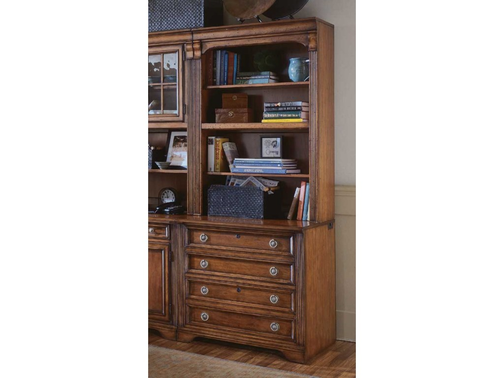 Hooker Furniture BrookhavenBookcase w/Lateral File Base