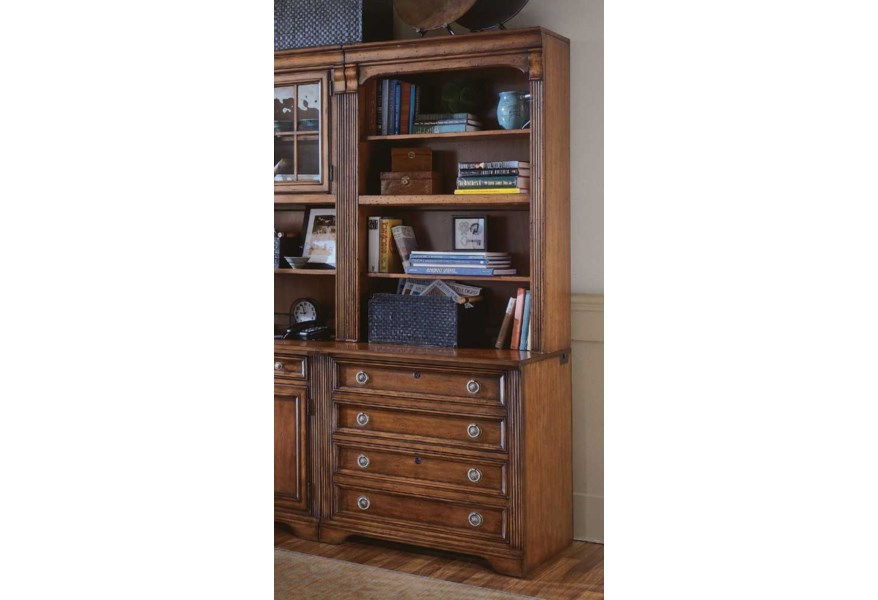 Hooker Furniture Brookhaven Bookcase W Lateral File Base