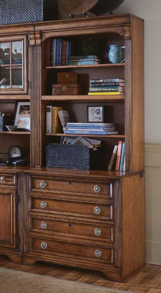 Hooker Furniture Brookhaven Bookcase W/Lateral File Base | Dunk U0026 Bright  Furniture | Bookcase   2 Pc. With Hutch