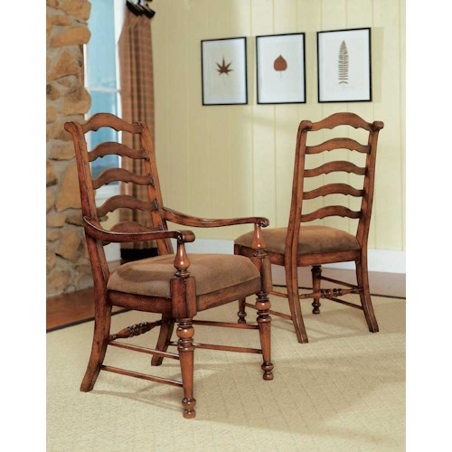 Hooker Furniture Waverly Place Ladderback Dining Side Chair
