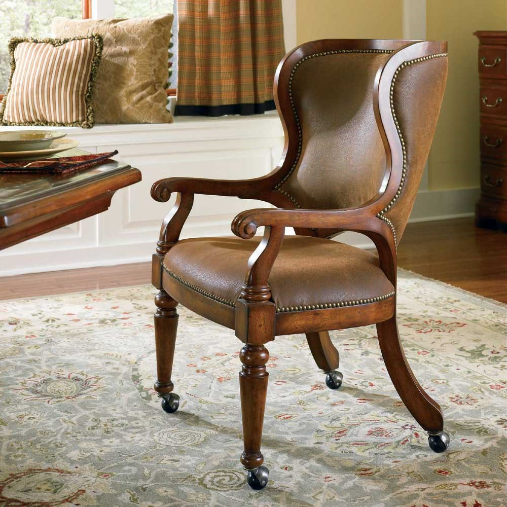 Waverly Place Tall Back Castered Game Chair By Hooker Furniture