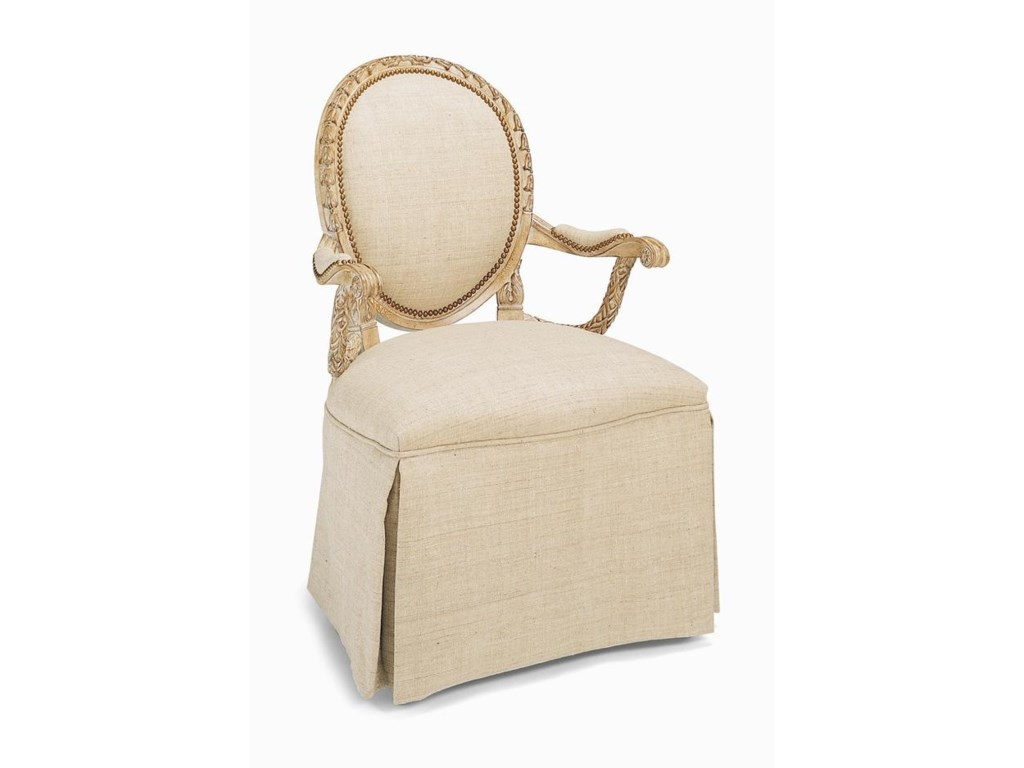 Century Century ChairSkirted Upholstered Back Chair