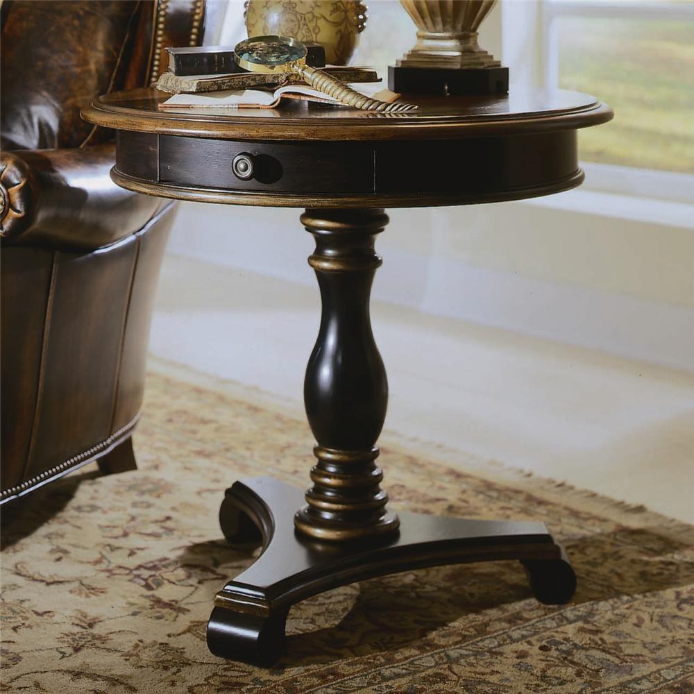 Hooker Furniture Preston Ridge Round Pedestal Accent Table  ~ Sofa Server Accent Table