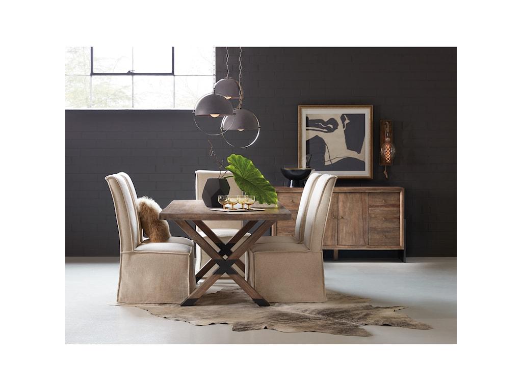 Hooker Furniture 1666-75Trestle Table