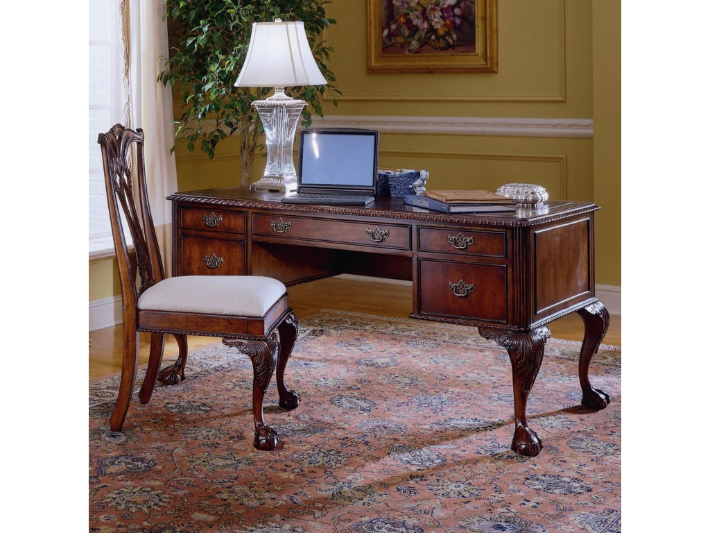 Hooker Furniture 434Ball Claw Writing Desk
