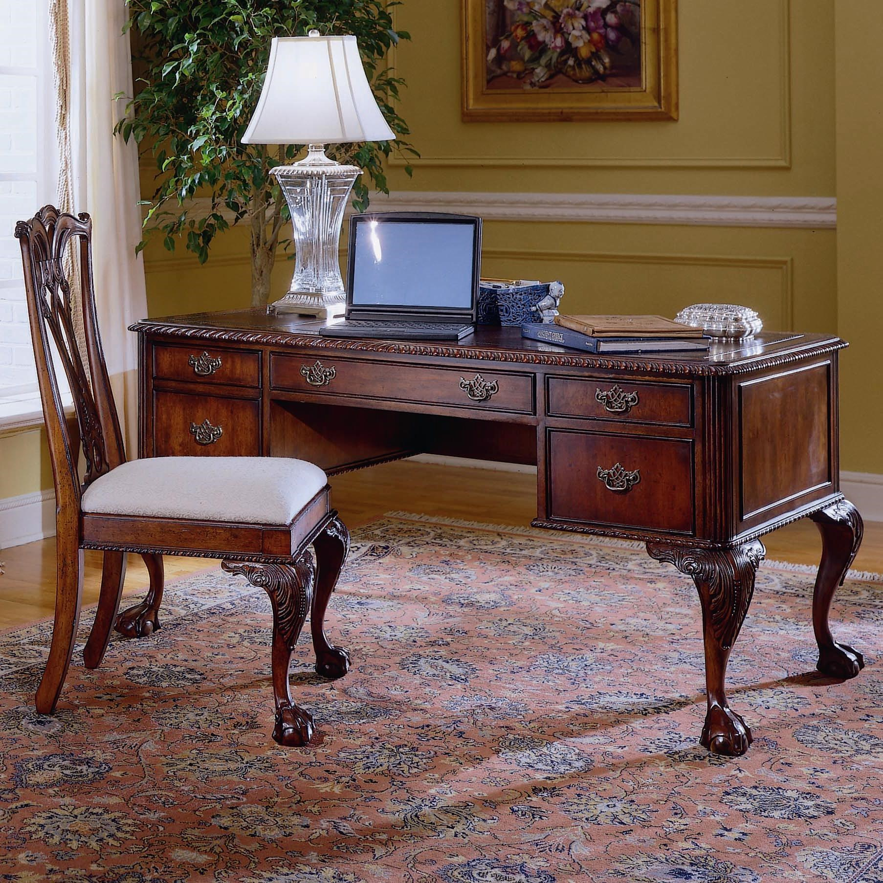 Bon Hooker Furniture 434 Ball And Claw Writing Desk