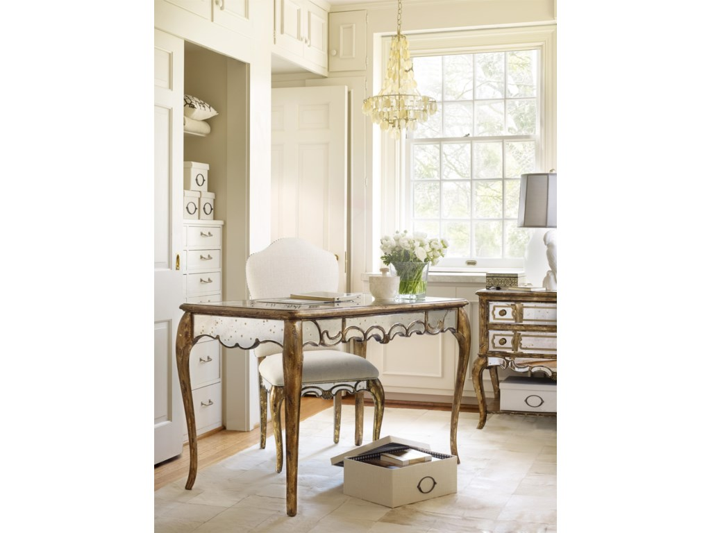 Hamilton Home 5199Mirrored Writing Desk