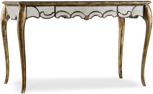 Hamilton Home 5199 Weathered Mirrored Writing Desk