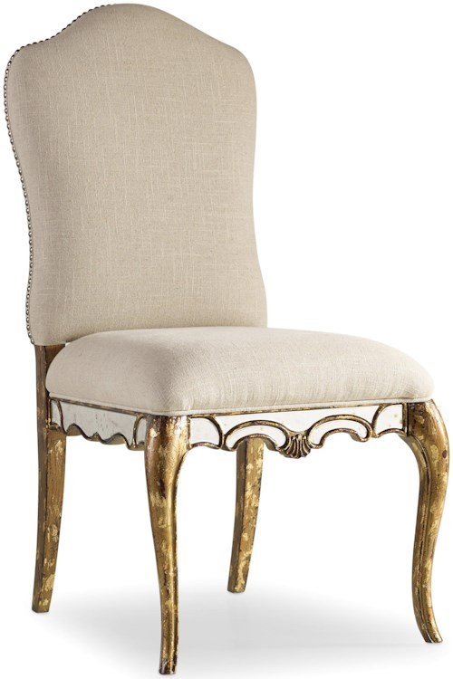 Hooker Furniture 5199 Weathered Painted Desk Chair with Mirrors