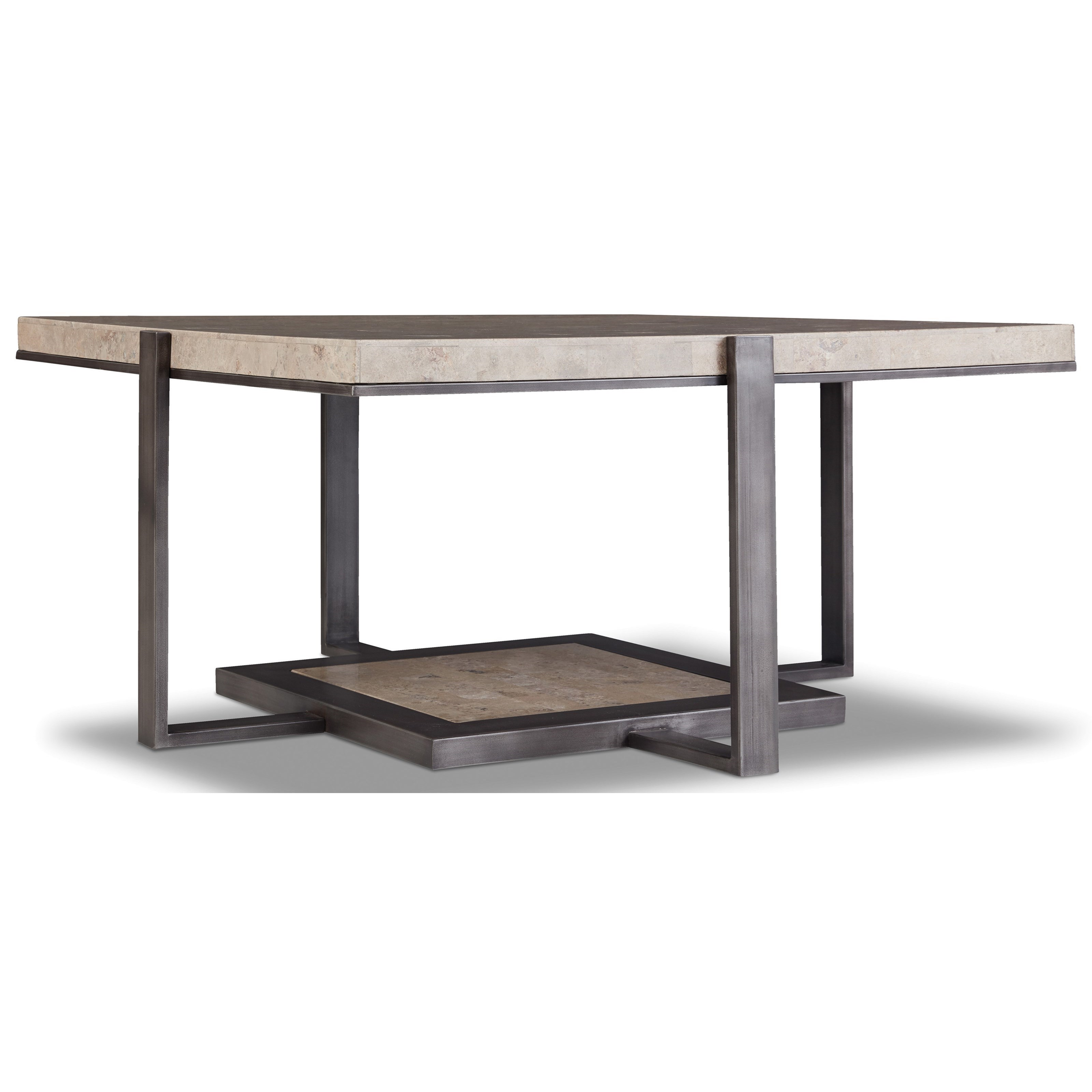 - Hooker Furniture 5533 Square Cocktail Table With Marble Top Wayside  Furniture Cocktail/Coffee Tables