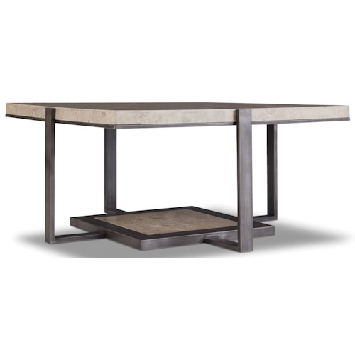 Hooker Furniture 5533 Square Cocktail Table with Marble Top