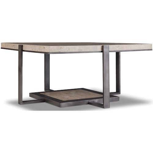 Hamilton Home 5533 Square Cocktail Table with Marble Top