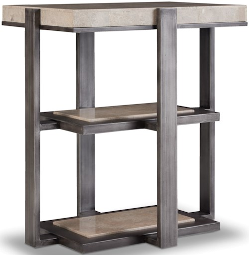 Hooker Furniture 5533 Chairside Table with Marble Top