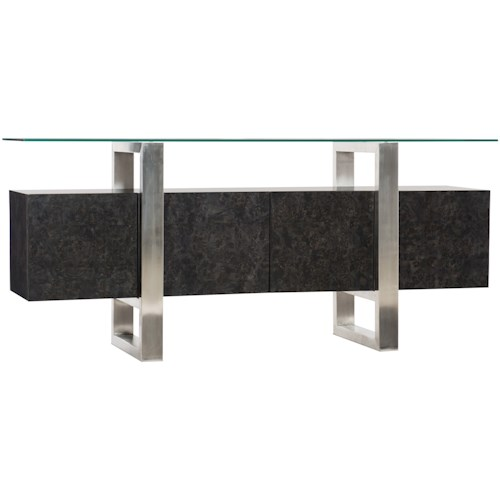 Hamilton Home 5585-50 Contemporary Console with Floating Tempered Glass Top