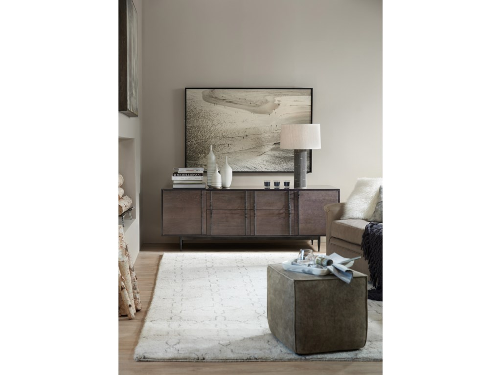 Hooker Furniture 5587-85Wormy Maple Console