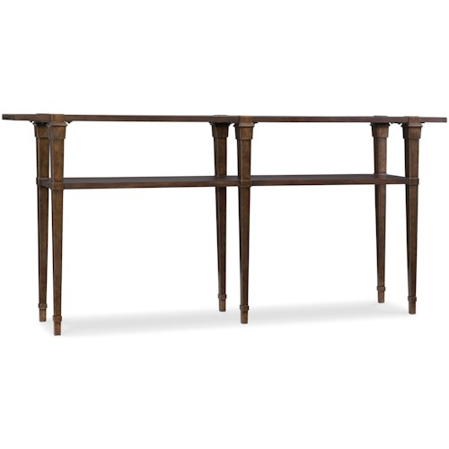Hooker Furniture 5589-85 Transitional Skinny Console Table with Fixed Shelf