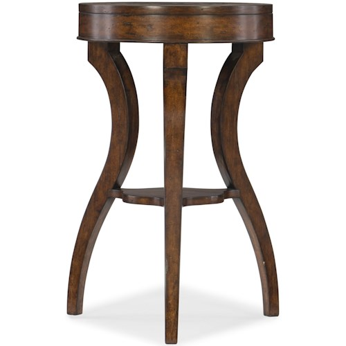 Hamilton Home 5597-50 Transitional Accent Table with Small Shelf