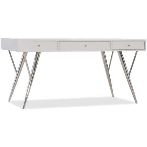 Hooker Furniture 5622-10 Contemporary Writing Desk with Drop-Front Keyboard Drawer