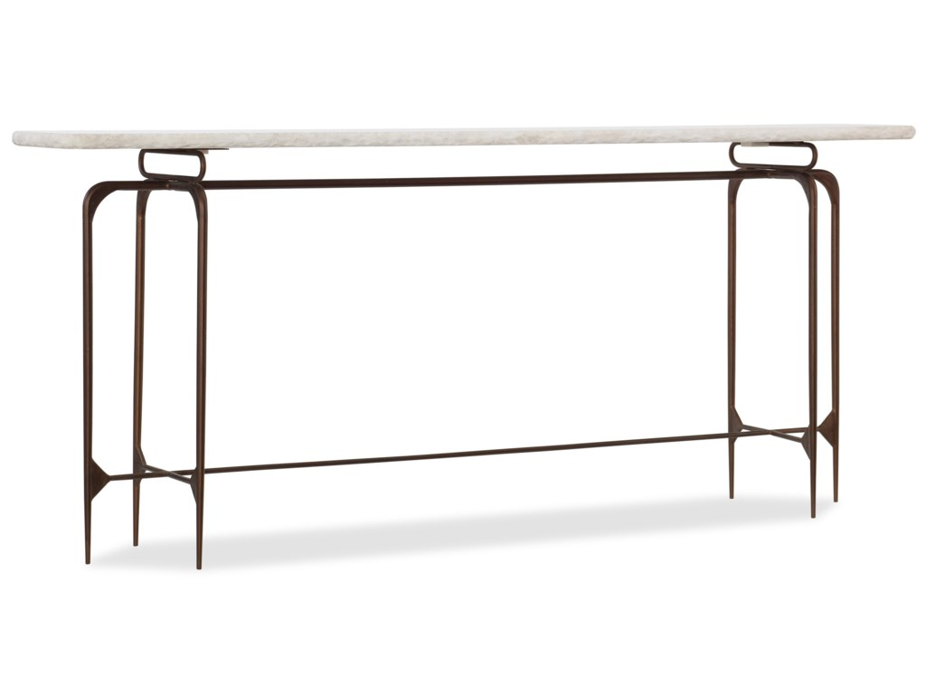 Hooker Furniture 5633Skinny Metal Console Table with Marble Top