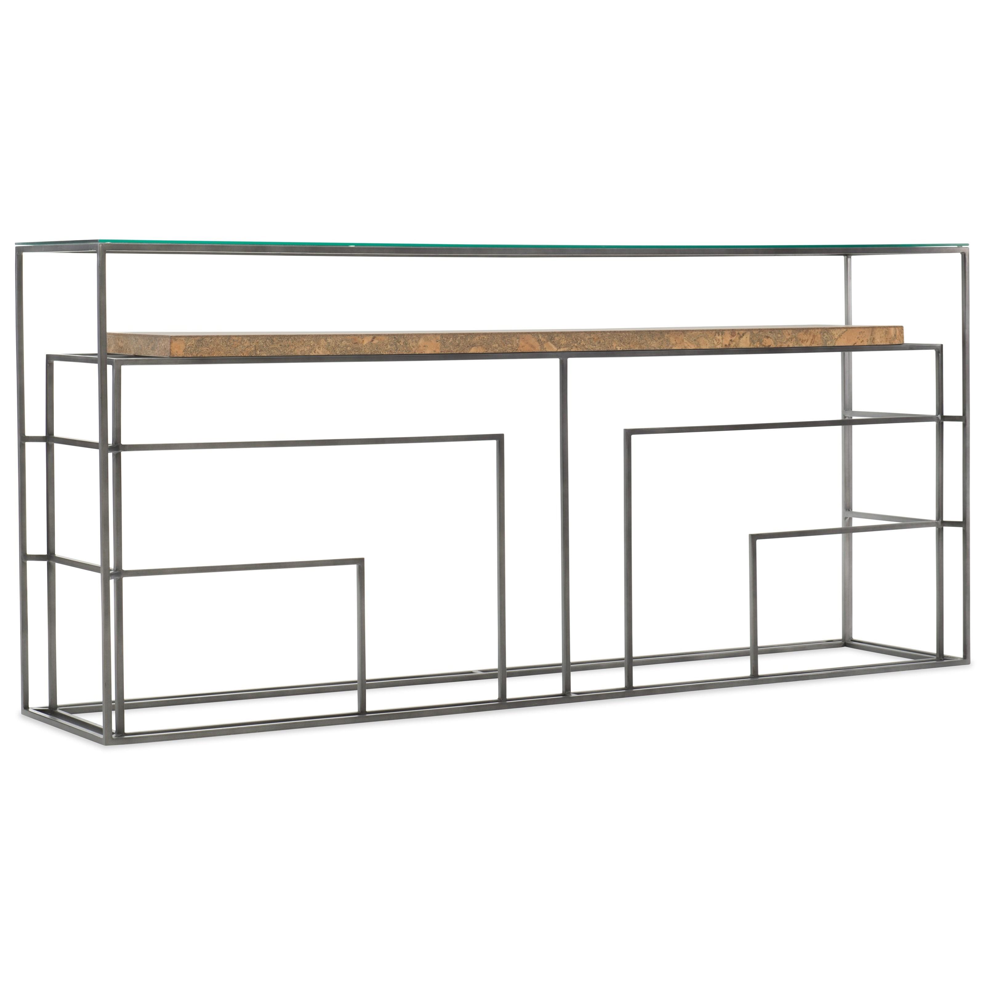 Contemporary Sofa Table with Cork Shelf