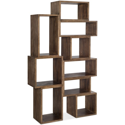 Hooker Furniture 5677-10 Contemporary Bookcase with Nine Cubbies