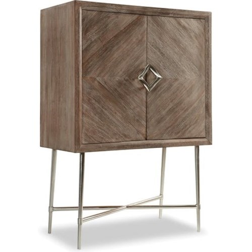 Hooker Furniture 5677-50 Contemporary Bar Cabinet with Wine Bottle and Wine Glass Storage