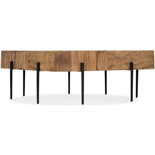 Hooker Furniture 5677-80 Contemporary Salvaged Wood Square Cocktail Table