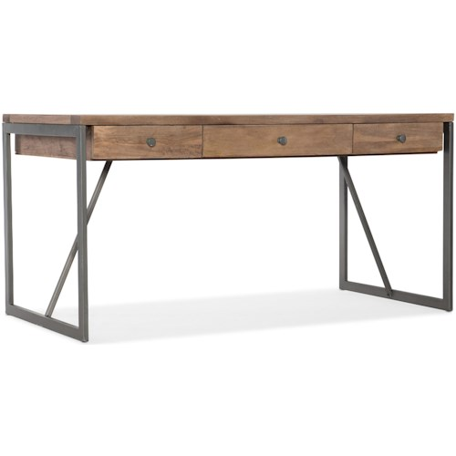 Hooker Furniture 5681-10 Industrial Style Metal/Wood Writing Desk