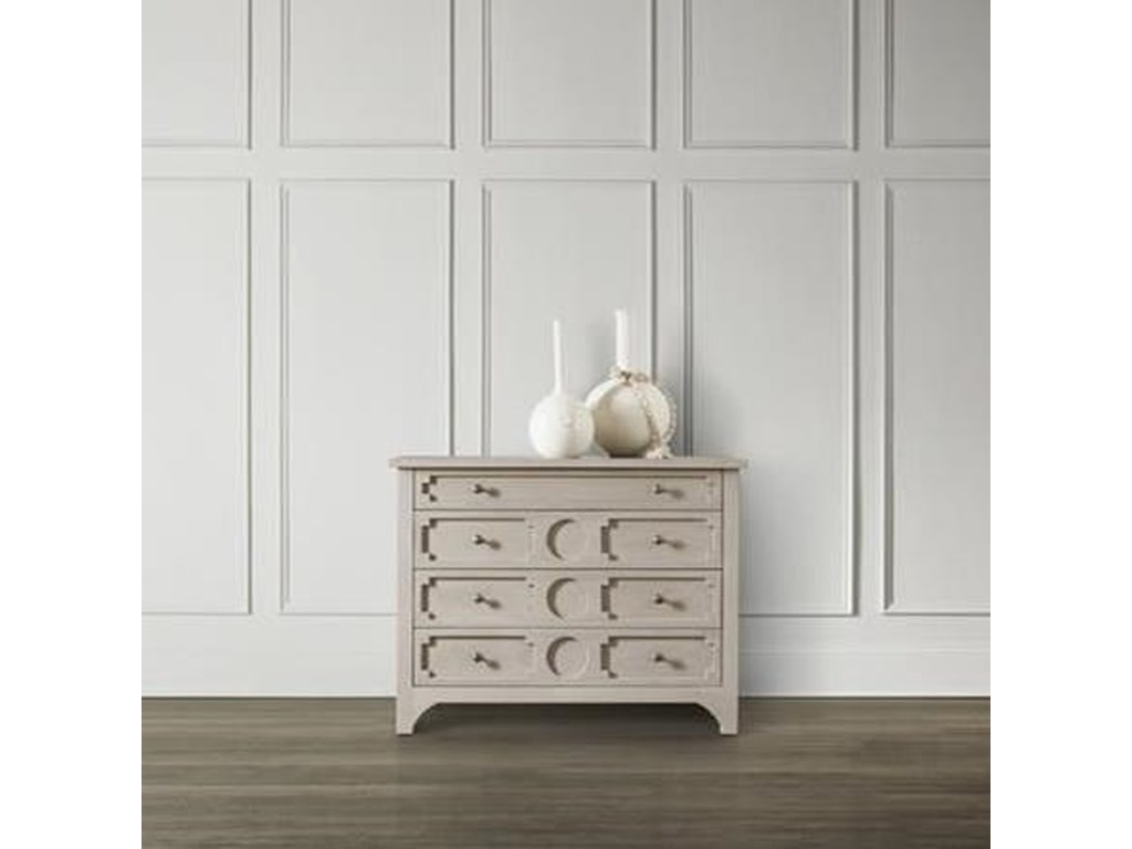 Hamilton Home 5694-85Button Down Four-Drawer Accent Chest