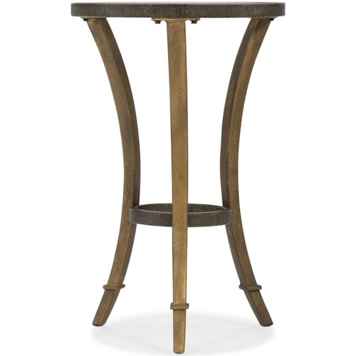 Hooker Furniture 6080-50 Transitional Round Accent Martini Table with Glass Top