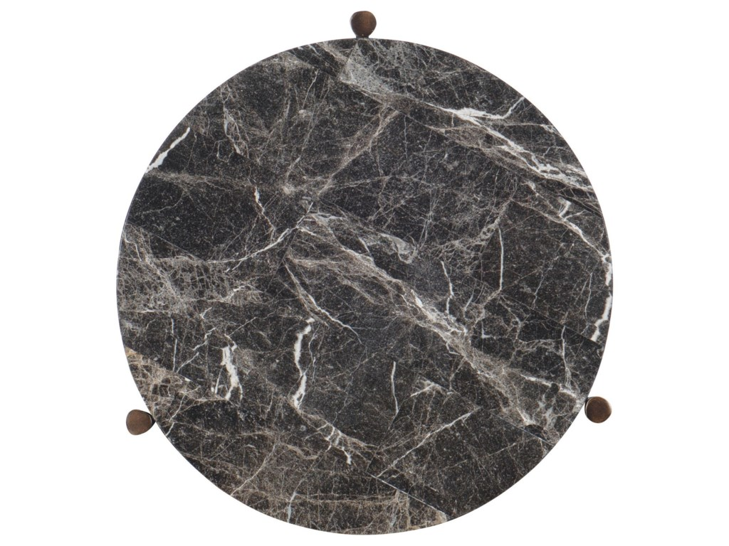 Hooker Furniture 6266Marble Round End Table