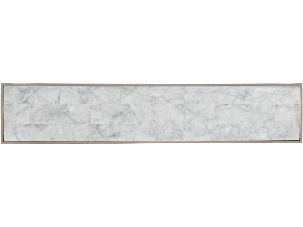 Hooker Furniture 6305White Venetian Marble Console Table