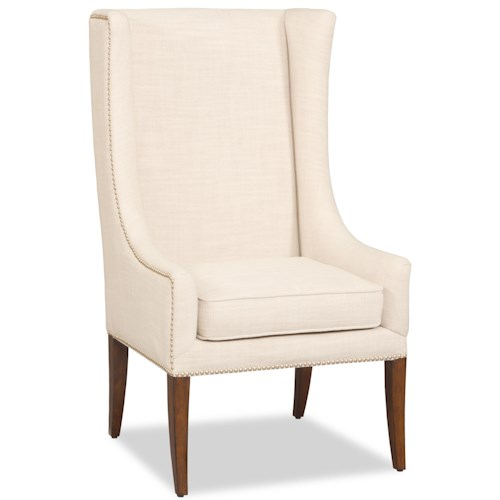 Hooker Furniture Accent Chairs Wing Accent Chair with Nailhead Trim