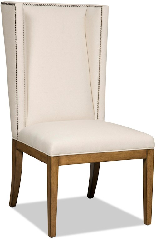 Hooker Furniture Dining Chairs Upholstered Parsons Dining Chair with Nailhead Trim