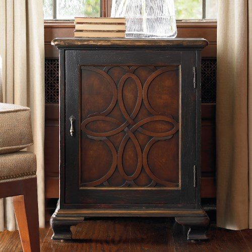 Hooker Furniture Living Room Accents Accent Door Chest with Celtic Motif Latticework