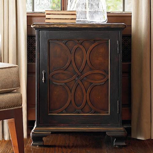 Hooker Furniture Living Room Accents Accent Door Chest with Celtic Motif Latticework