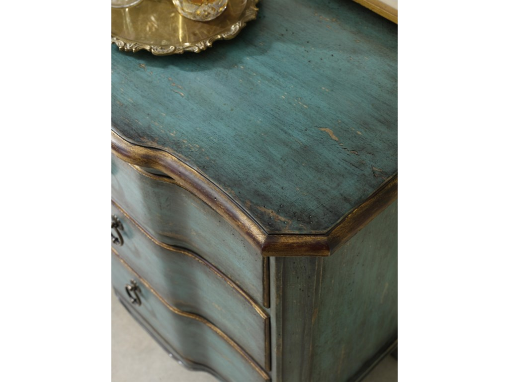 Hooker Furniture Living Room AccentsThree Drawer Turquoise Chest
