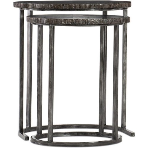 Hooker Furniture 500-50 Nesting Tables with Petrified Wood Stone Tops
